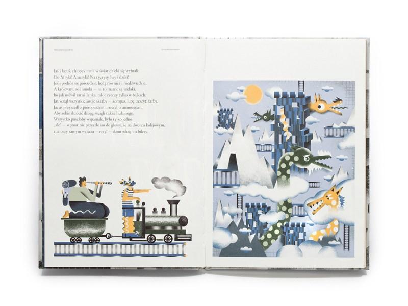 """Erna Rosenstein """"Bajki"""", ilustracje: Karol Banach, redakcja: Jarosław Borowiec, projekt graficzny: Ryszard Bienert, wydawca: Wydawnictwo Warstwy, 2015"""