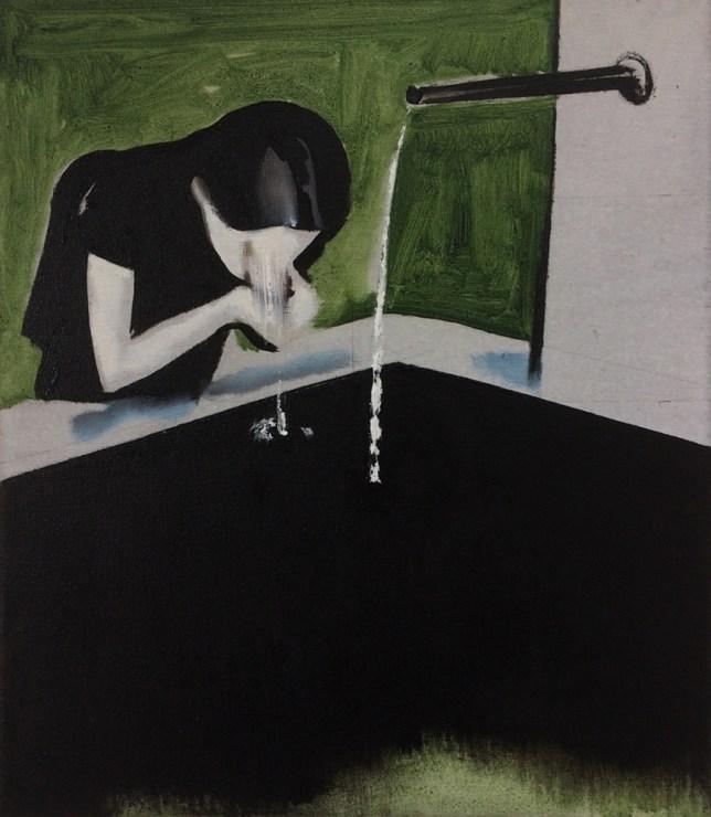 """Wilhelm Sasnal, """"Basel"""", olej na płótnie, 40x35 cm, 2017, fot. dzięki uprzejmości Fundacji Galerii Foksal"""