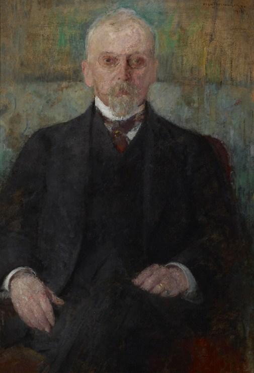 """Olga Boznańska , """"Portret Henryka Sienkiewicza"""", 1913 rok, technika olejna, własność Muzeum Narodowego w Krakowie, rep. Bartosz Cygan"""