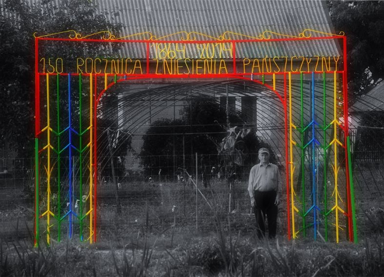 Daniel Rycharski, Commemorative Archway for the 150th Anniversary of the Abolition of Feudal Service, 2014, photo: courtesy of the artist