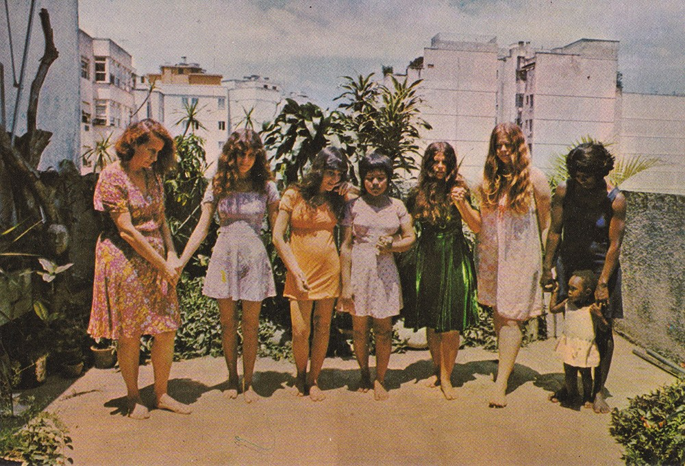 Photo from the series Native Brazil / Alien Brazil by Anna Bella Geiger, 1976-1977, photo: courtesy of the artist