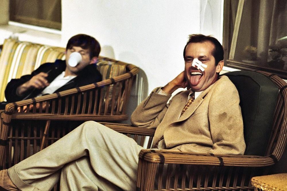 """Jack Nicholson i Roman Polański w filmie """"Chinatown"""" w reżyserii Romana Polańskiego, 1974, fot. Paramount Pictures"""