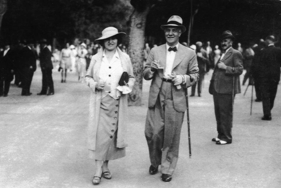 Jan Czochralski with his wife, photo: public domain