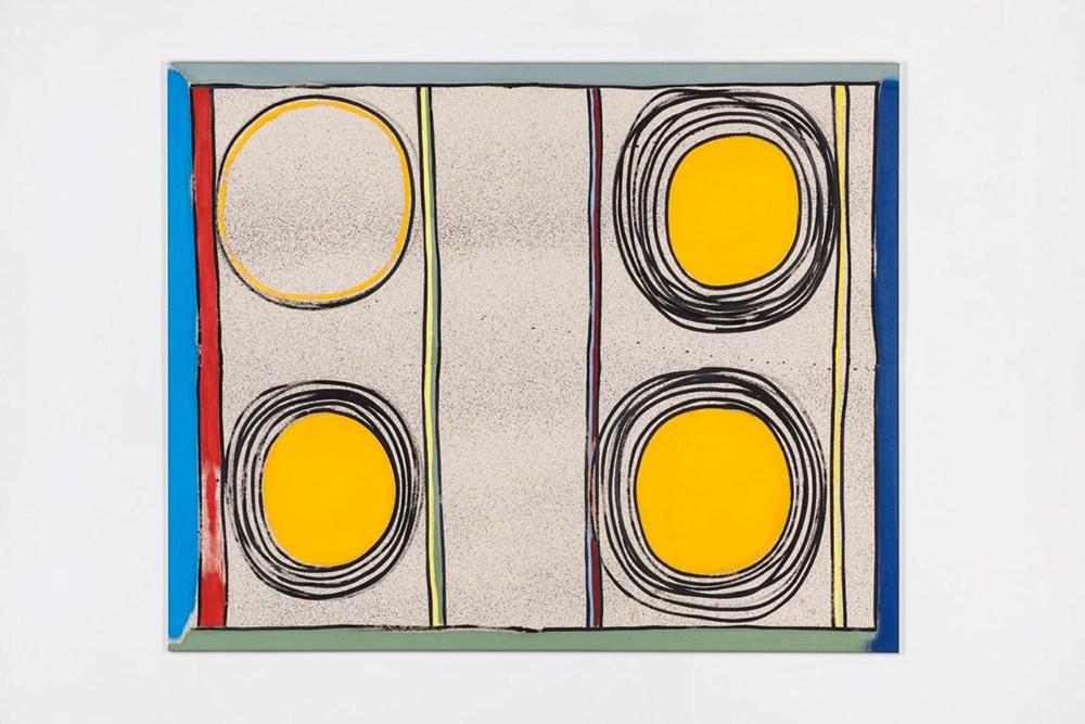 """David Krňanský, """"Bez tytułu (Stereo)"""", 2017, 145x180 cm, olej i akryl na płótnie, fot. dzięki uprzejmości Galerii Leto"""
