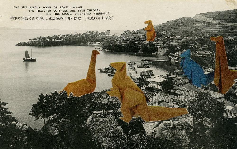 """Jan Dziaczkowski, kolaż z cyklu """"Japanese Monster Movies"""", 2010, fot. dzięki uprzejmości rodziny"""
