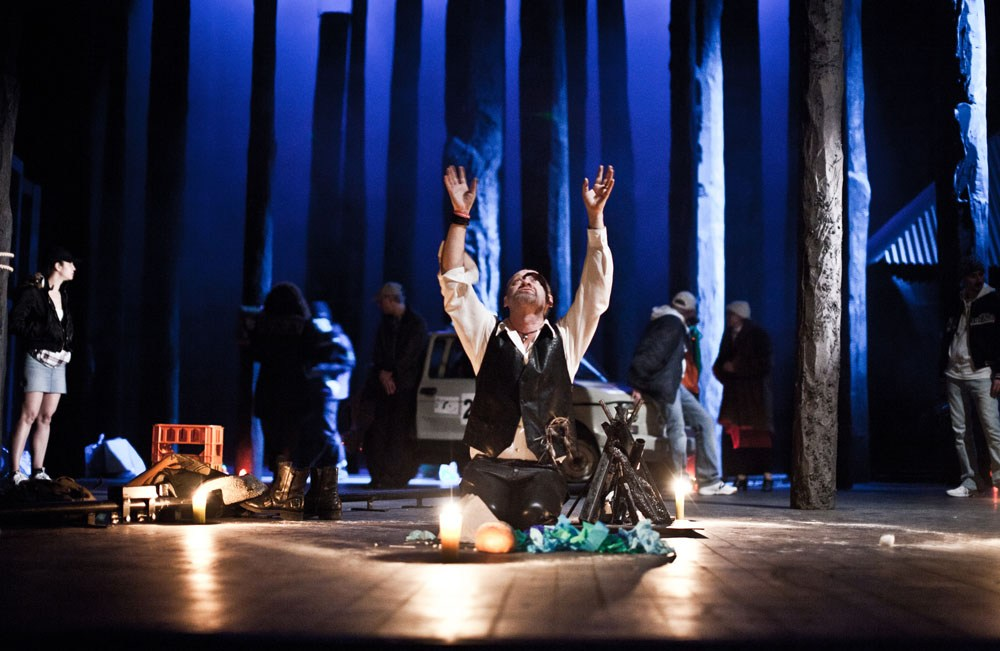 """Scene from the performance """"Forefathers' Eve"""" directed byMichał Zadara, photo: Natalia Kabanow, promo materials"""