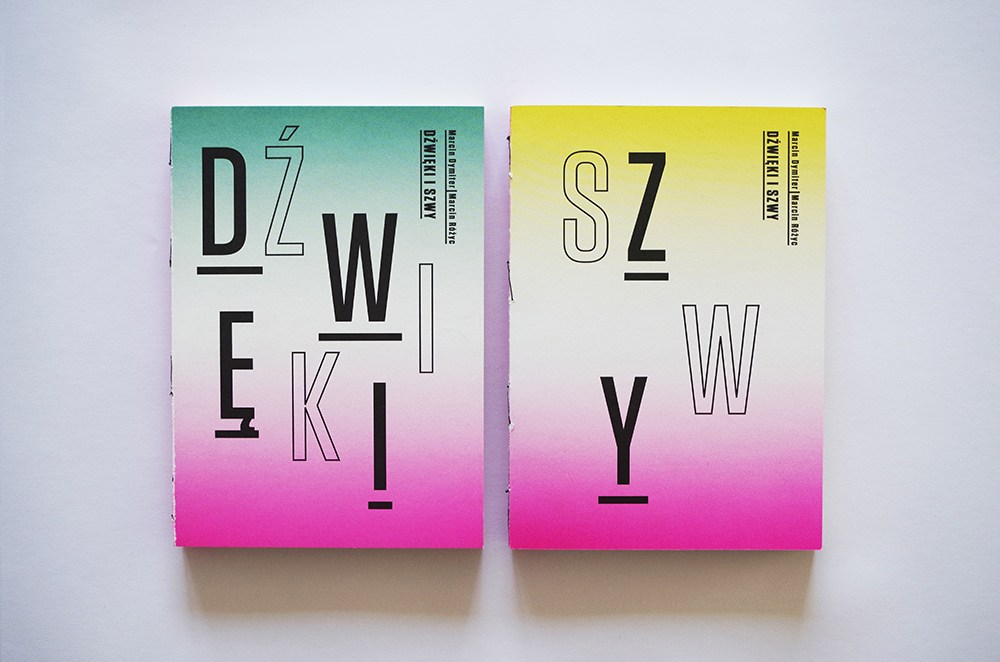 """Okładki książki """"Dźwięki i szwy"""", projekt: Magdalena Burdzyńska, wyd: BWA Tarnów, 2015, fot. dzięki uprzejmości artystki"""