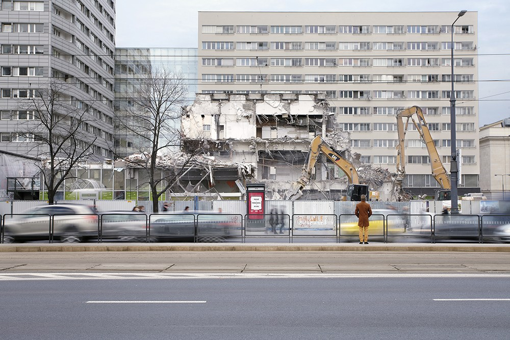 Franciszek Buchner, Sezam Department Store during its demolition on Marszałkowska Street, February 2015, photo by courtesy of  Raster Gallery