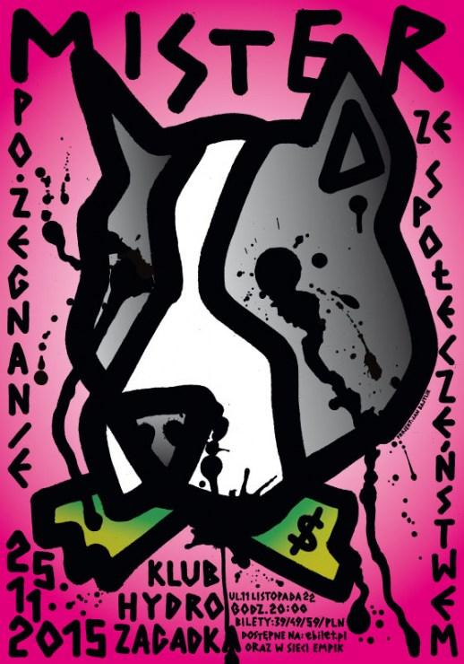 Mister D poster, design by: Jan Bajtlik, publisher: Mister D, Jan Bajtlik, 2015