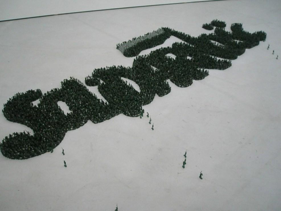 """Grzegorz Klaman, """"Solidarność Made in China"""", 2007, fot. Is Wyspa"""