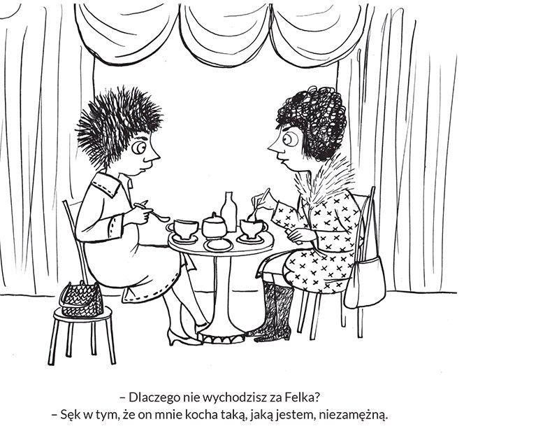 """Anna Gosławska-Lipińska, rysunek z książki """"Ha Ha Ha-Ga"""", Wydawca: Fundacja Bęc Zmiana, fot. Muzeum Karykatury im. Eryka Lipińskiego"""