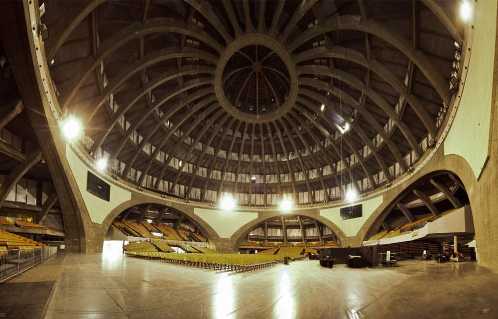The Centennial Hall in Wrocław, the interior, source: halastulecia.pl