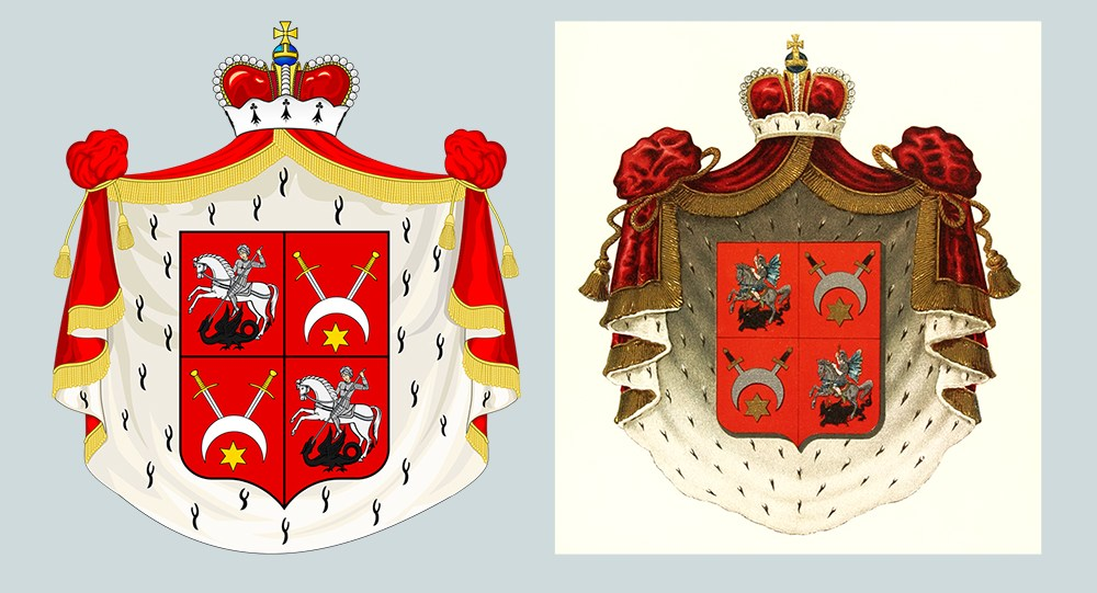 The coat of arms of the Światopełk-Czetwertyński dukes as shown in the 1897 book The Armorial of Polish Houses by Juliusz Ostrowski, photo: wikimedia.org