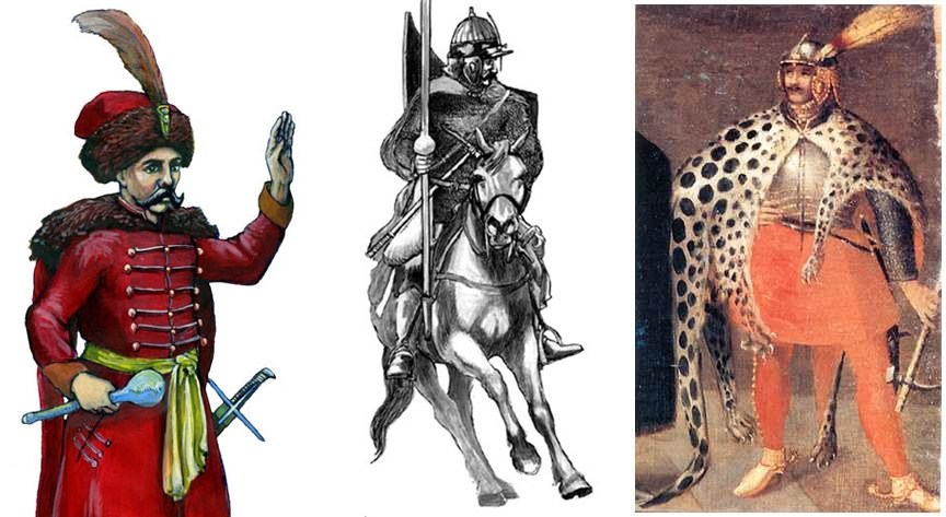Various depictions of a hussar, photo: Wikipedia