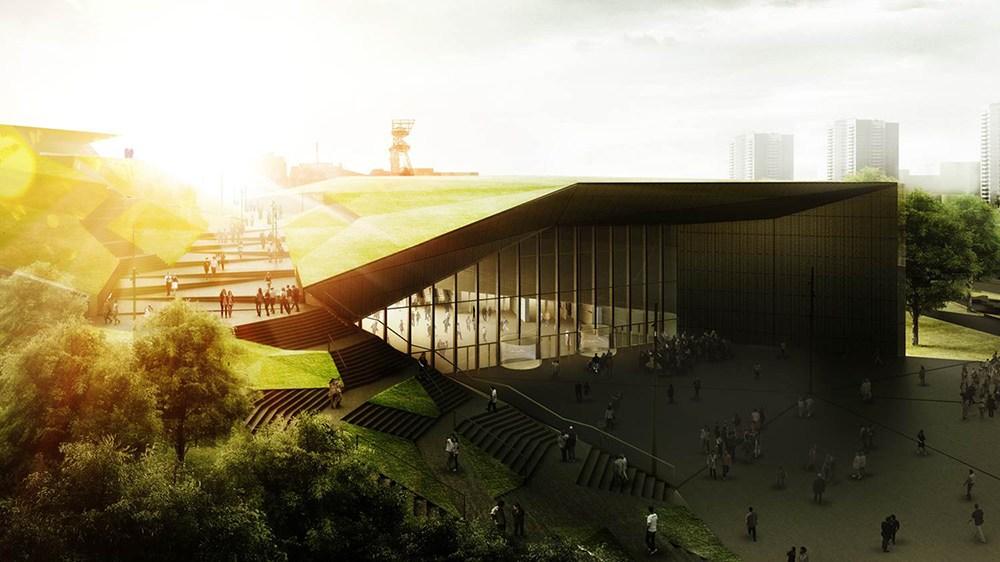 Jems Architekci, Międzynarodowe Centrum Kongresowe w Katowicach, wizualizacja budynku, fot. dzięki uprzejmości Urzędu Miasta w Katowicach