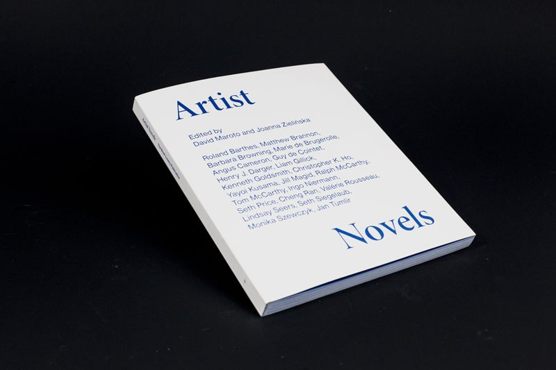Artist Novels, ed. David Maroto, Joanna Zielińska, graphic design: Jakub de Barbaro, publisher: Sternberg Press, Cricoteka, 2015