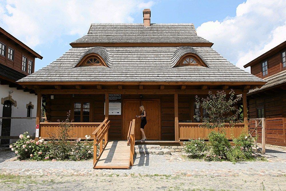 Isaac Bashevis Singer's restored house in Biłgoraj. Town on the Trail of Borderland Cultures built by Biłgoraj XXI Foundation, photo: Jakub Orzechowski/AG