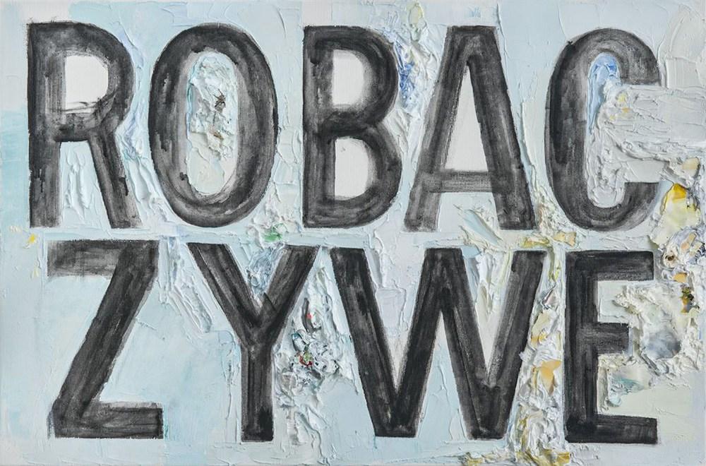 """Jadwiga Sawicka, """"Robaczywe"""", 2013, olej, akryl, płótno, 40 x 60 cm, fot. materiały promocyjne"""