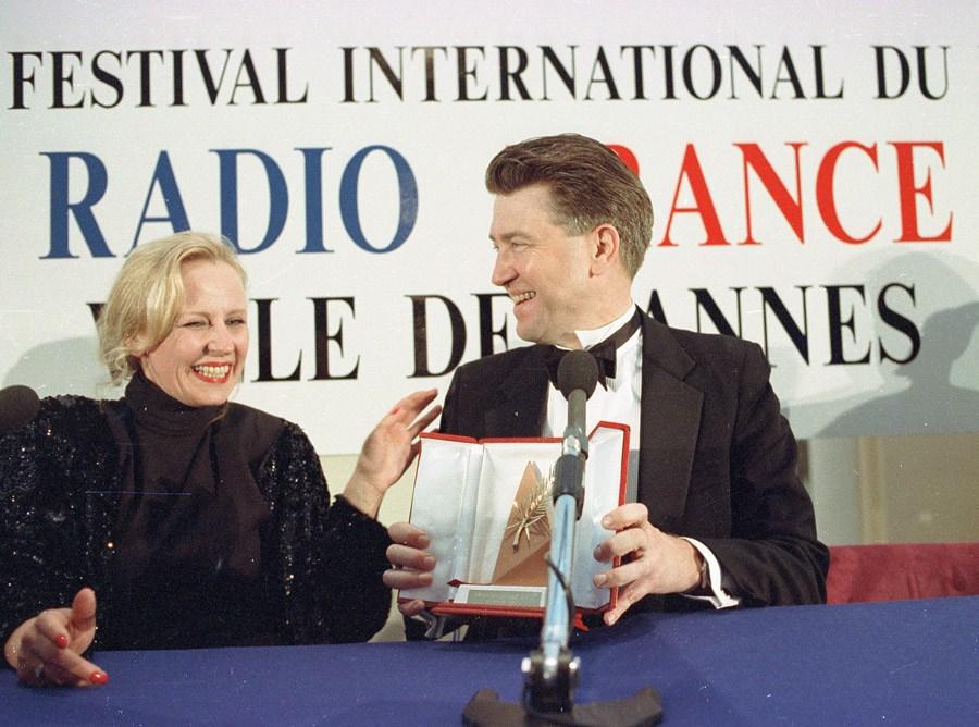 Krystyna Janda i David Lynch, Festiwal Filmowy w Cannes, 1990, fot. Jerzy Kośnik