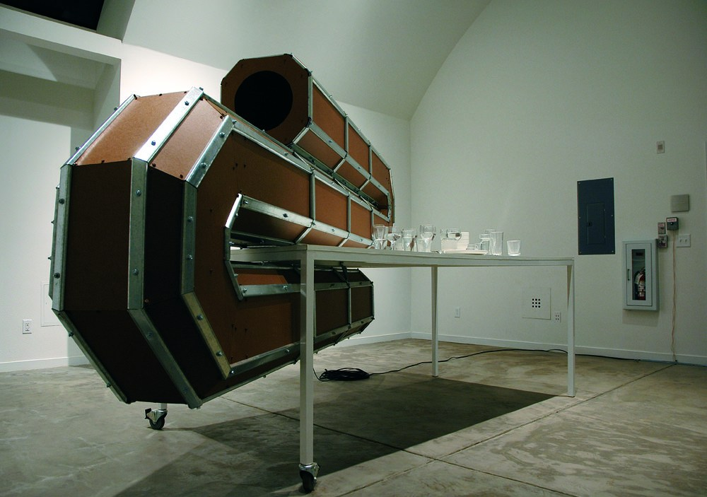 Przemysław Jasielski, Earthquake Control Unit, 2004, a machine generating a low-level seismic activity, photo courtesy of the designer