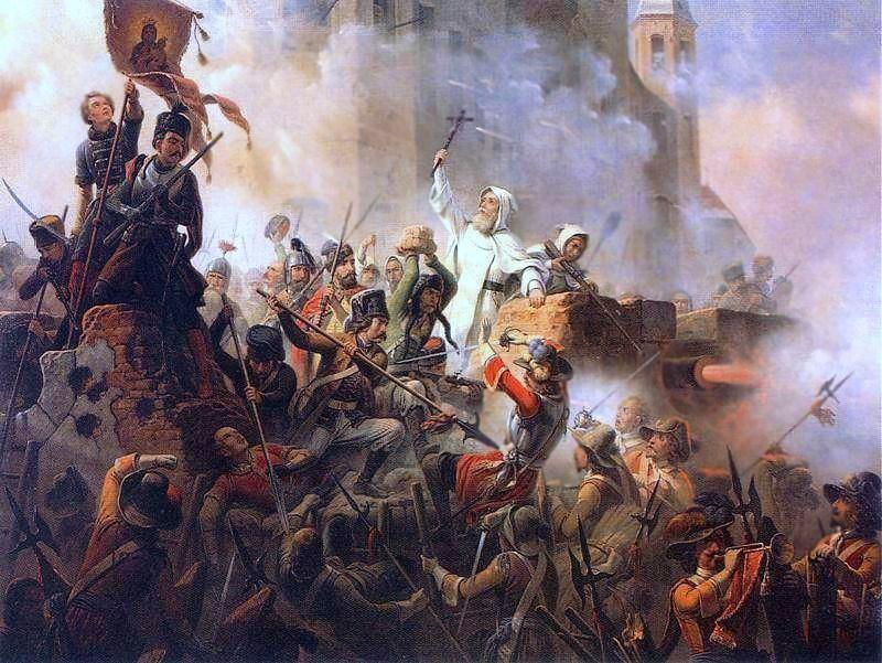 """January Suchodolski, """"Obrona Jasnej Góry 1655"""", fot. z Wikimedia Commons"""
