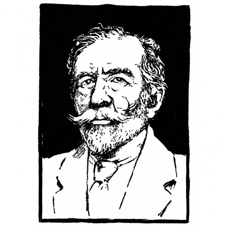 Joseph Conrad, drawing: PAP