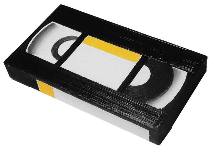 """Rafał Bujnowski, """"Kaseta VHS"""", 2000, olej na płótnie, seria 100 obrazów, fot. dzięki uprzejmości Galerii Raster"""