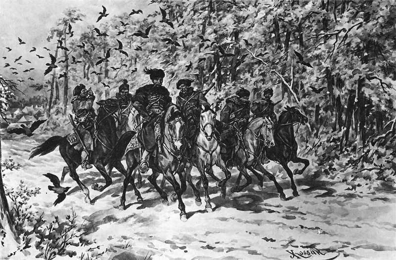 """Juliusz Kossak, """"Kmicicowa kompania"""", jedna z ilustracji do """"Trylogii"""" Henryka Sienkiewicza, 1885, fot. Muzeum Narodowe w Warszawie"""