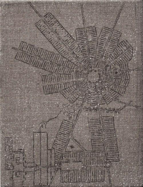 Krynki, graphite paper on canvas, 24x18 cm, 2013, photo: artist's private archive