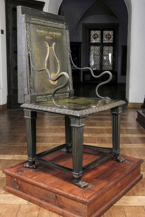 Ostensibly Shakespeare's chair, photo: the National Museum in Kraków