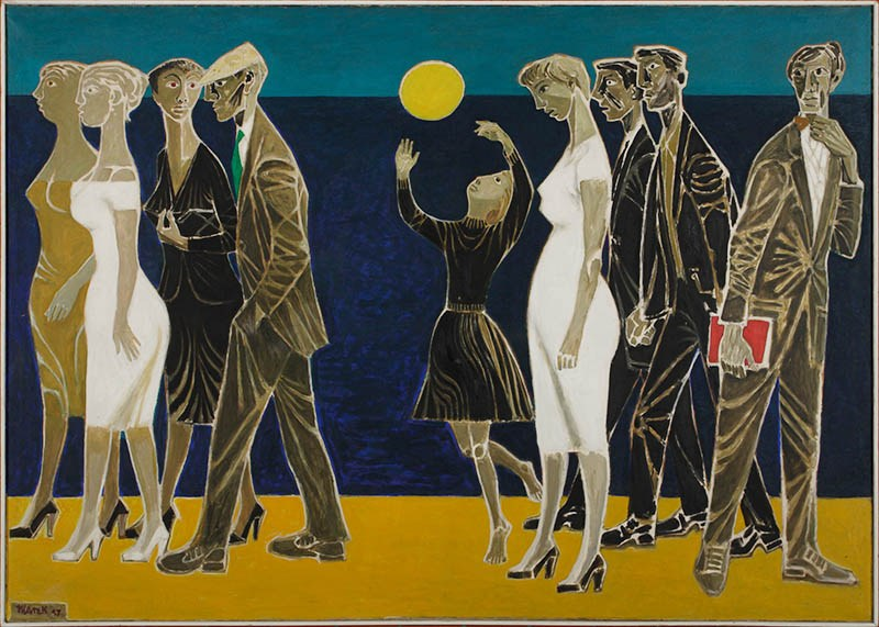 People at the Seaside by Marek Żuławski, 1957, photo: University Museum in Toruń