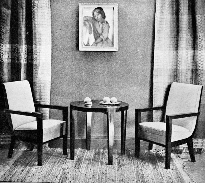 Halina Karpińska-Kintopf, office furniture designed in collaboration with Maria Bielska for the exhibition Art of the Interior, 1936, photo courtesy Institute of Industrial Design