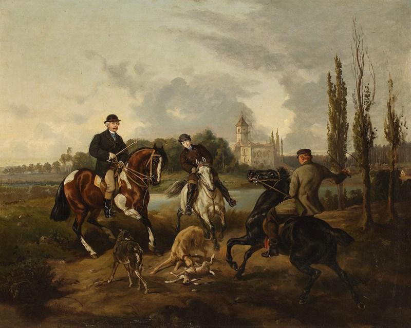 Hunting scene in Radziejowice; 1866; oil; canvas; 63 x 78 cm, photo: Ligier Piotr/National Museum in Warsaw