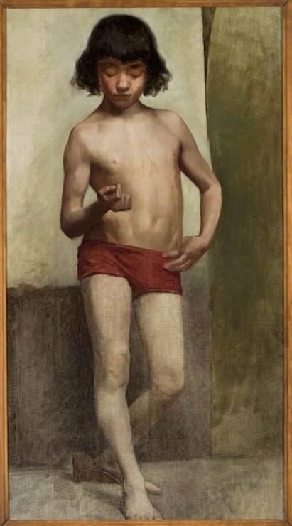"""Anna Bilińska-Bohdanowicz, """"Akt chłopięcy"""", olej na płótnie, ok.1885, z kol. Muzeum Narodowe w Warszawie , fot. MNW"""