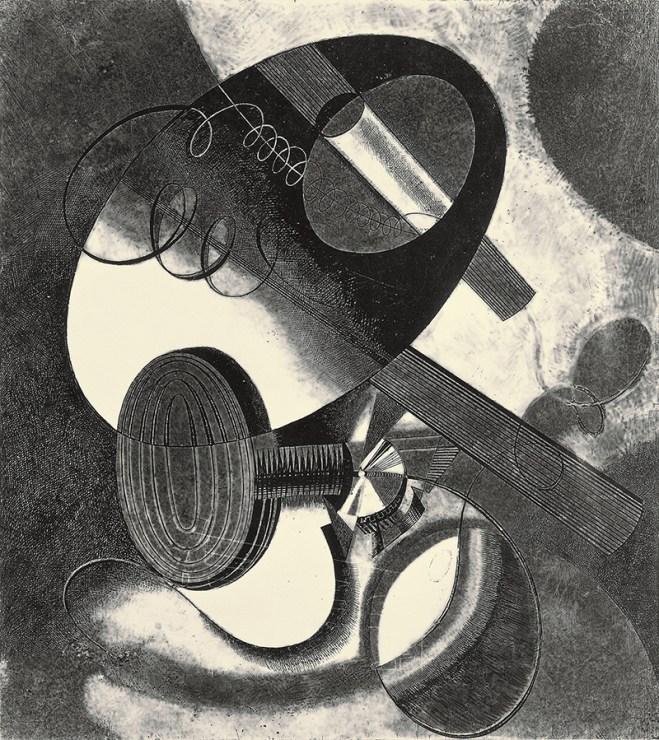 Karol Hiller, Heliographic Composition (XXIX), circa 1936-1937, heliograohic, photographic paper, 31,5 x 28 cm,photo: Muzeum Sztuki in Łódź