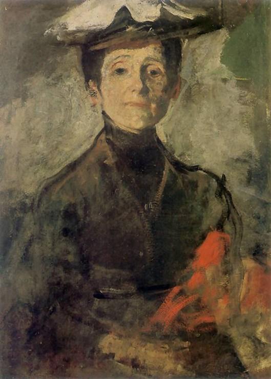 """Olga Boznańska, """"Autoportret z kwiatami"""", 1909, fot. Muzeum Narodowe w Krakowie"""