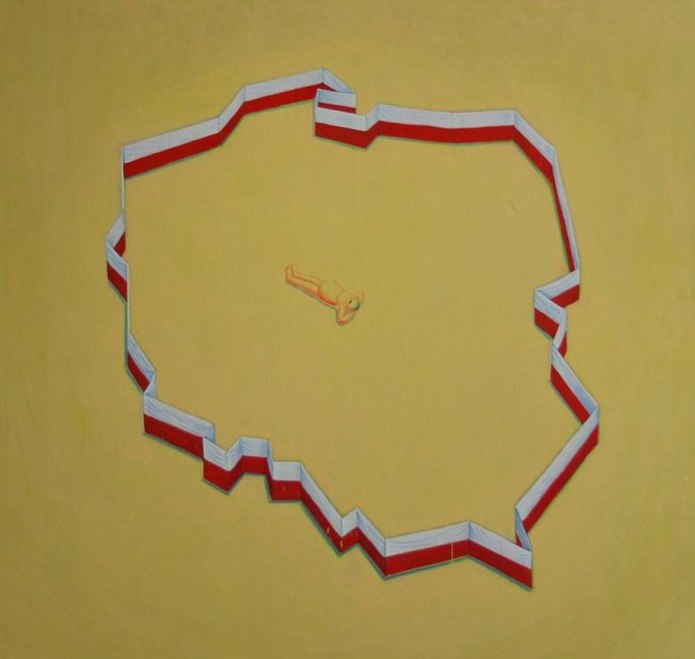 """Paweł Dunal, """"Bez tytułu"""", 2017, olej, płótno; 105 x 110 cm, fot. Tomasz Murawski/dzięki uprzejmości Galerii m²"""