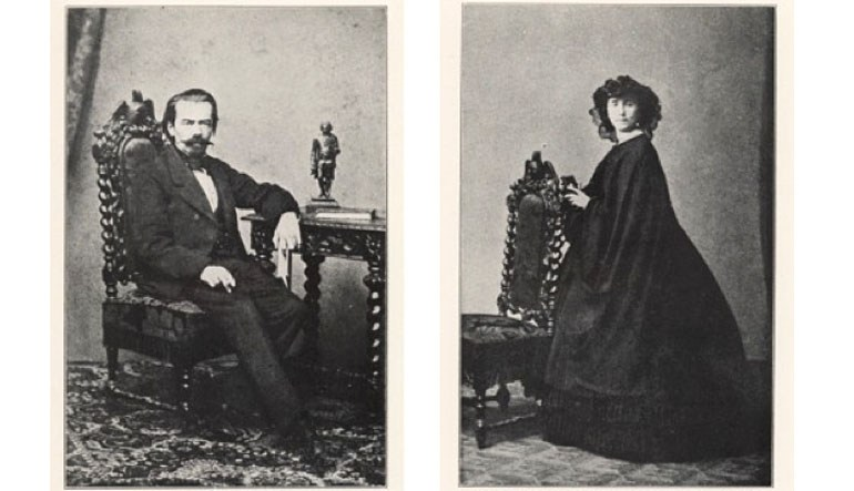 Rodzice Josepha Conrada: Apollo Nałęcz Korzeniowski i Ewelina z Bobrowskich Korzeniowska, 1862, fot. domena publiczna