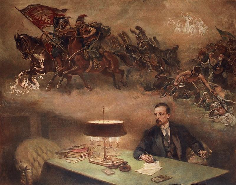 """Czesław Tański, """"Henryk Sienkiewicz i jego wizje"""", fot. Muzeum Literatury / East News"""