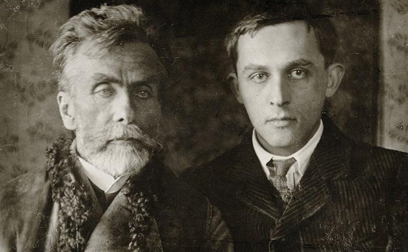 """Stanisław Ignacy Witkiewicz, """"Stanisław Witkiewicz z synem w Lovranie"""", ok. 1913, fot. Wydawnictwo Naukowe PWN"""
