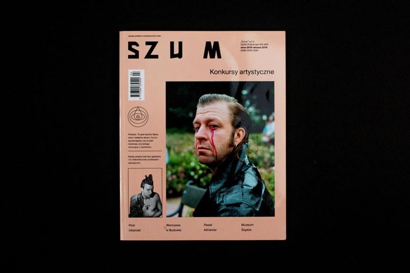 """""""Szum"""", projekt graficzny: Dominik Cymer / Cyber Kids on Real, wydawca: Fundacja Kultura Miejsca, 2015"""