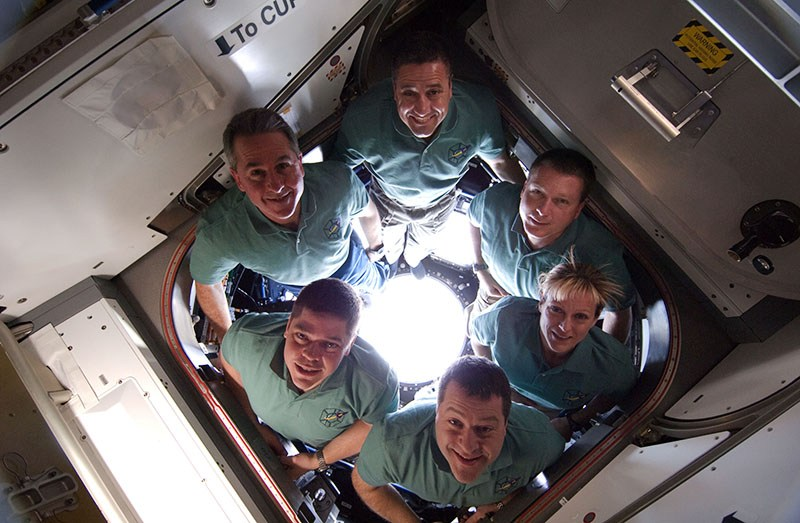 STS-130 Endeavour mission crew, Chopin: The Space Concert, promo photos, 2010, photo: courtesy of Adam Ustynowicz