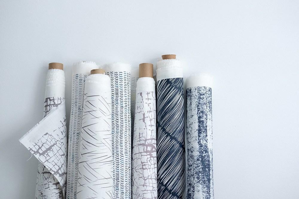 Lniane tkaniny drukowane, projektant: Marta Sułocka / Made of Cloth Textiles; producent: Made of Cloth, fot. materiały prasowe Łódź Design Festival