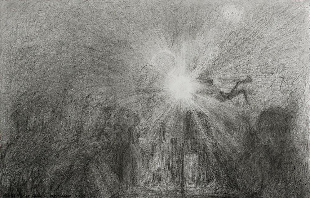 """Wojciech Bąkowski, """"Nurkowanie we wraku dawnej imprezy"""", 2017, fot. dzięki uprzejmości Galerii Stereo"""