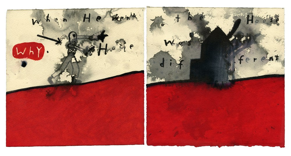 When He Went Home The House Was Different, 2013, Copyright: David Lynch