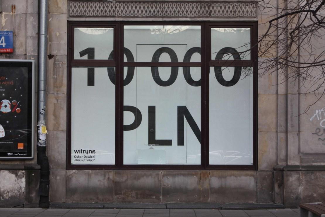 """Oskar Dawicki, """"Dziesięć tysięcy"""", 2008, Witryna, fot. dzięki uprzejomści Fundacji Witryna"""