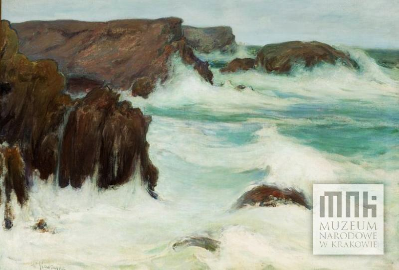 """Władysław Ślewiński, """"Morze w Bretanii"""" (Belle Isle), 1904, olej na płótnie, fot. dzięki uprzejmości Muzeum Narodowemu w Krakowie"""