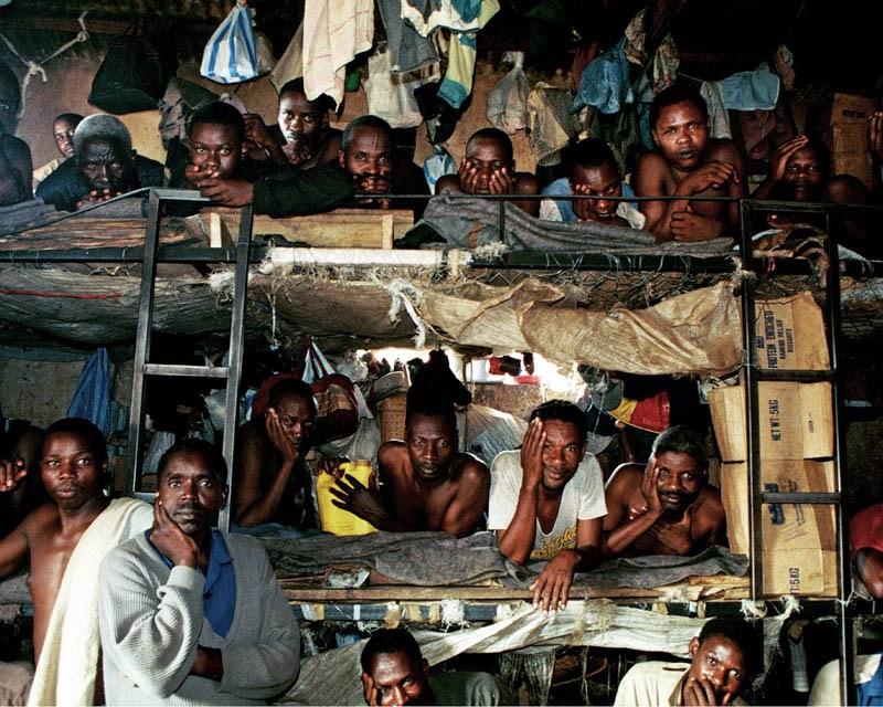Rwanda, Butare, 1995. Hutu prison, photo: Krzysztof Miller / Agencja Gazeta