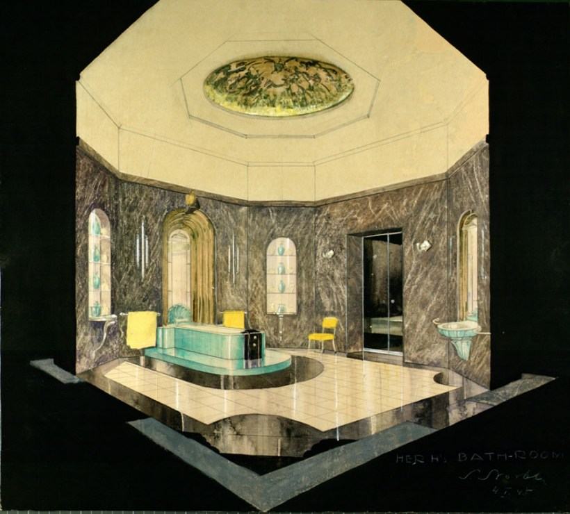 Stefan Norblin, Umaid Bhawan Palace interior design, 1944-1945., photo: Wilanów Poster Museum