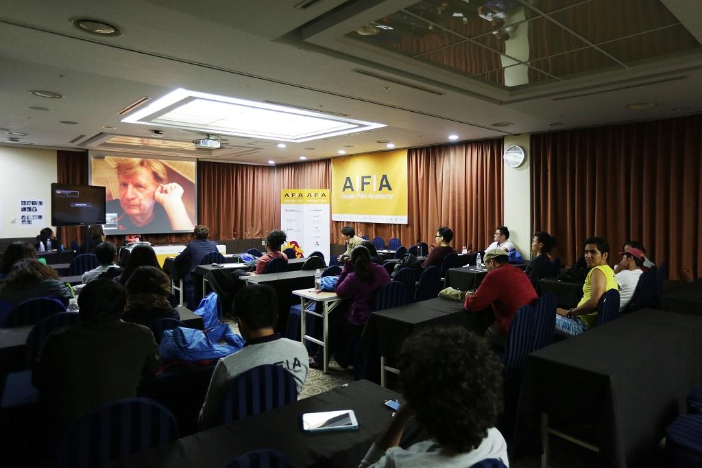 Ryszard Lenczewski's lecture at AFA 2014, photo courtesy of R.Lenczewski